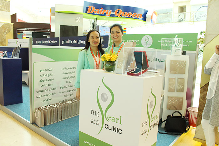 pearl-nurse-and-receptionist-derma-at-mothers-day-booth